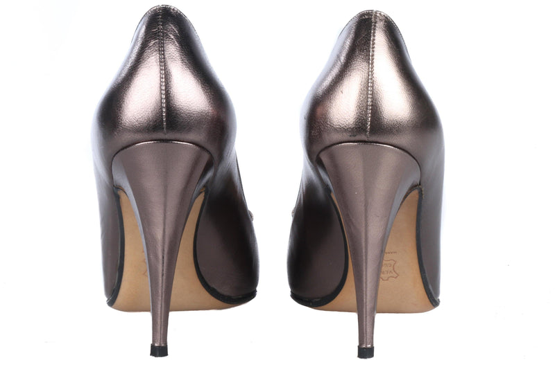 Andrea Carrano for Russell & Bromley Metallic Bronze Bow Detail Shoes Size 6