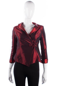 Tang Yi Chinese red and black jacket size S