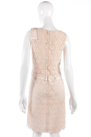 Vintage Blanes lace cream formal dress size 8/10