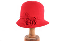 Red hat with bow detail