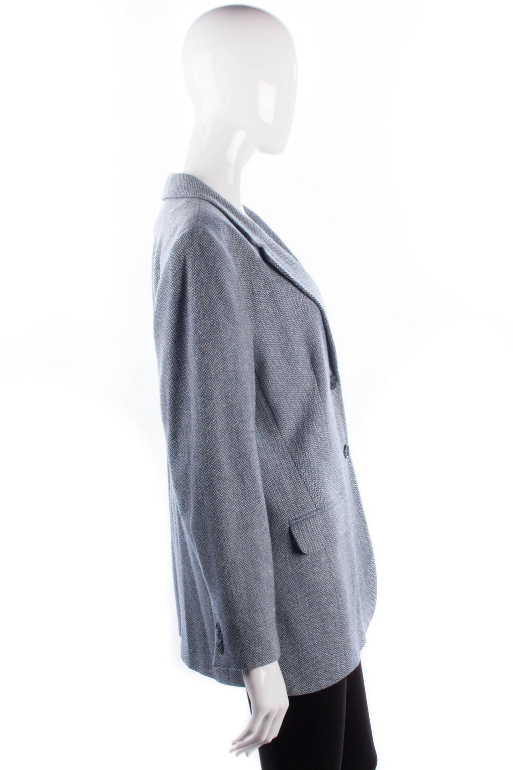 Orvis silk/wool blue, white and grey country jacket size 12