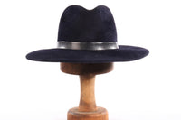 Dark blue fedora