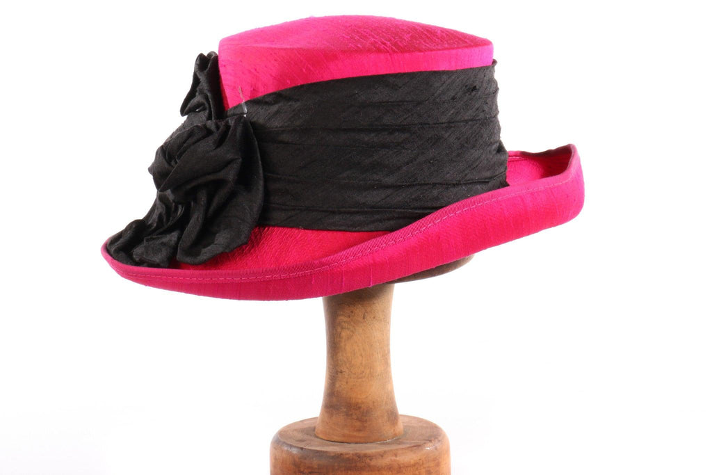 Balfour pink and black formal hat