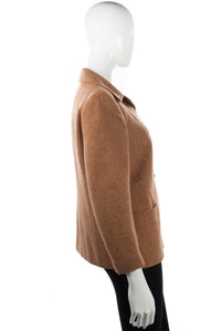 Pure new wool vintage beige jacket size M
