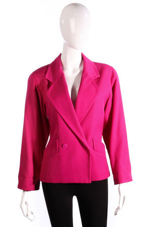 Jaeger Double Breasted Jacket Pink UK Size 10