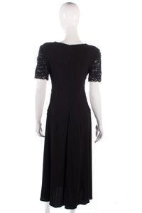 Sierra Designs Vintage black dress with beading size 10/12