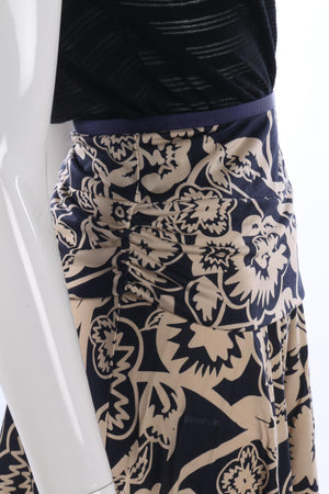 Diane Von Furstenberg blue and cream skirt size S