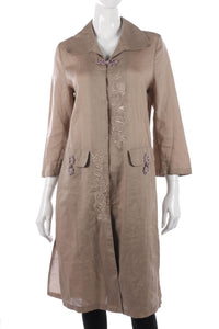 Davoudi linen embroidered dress