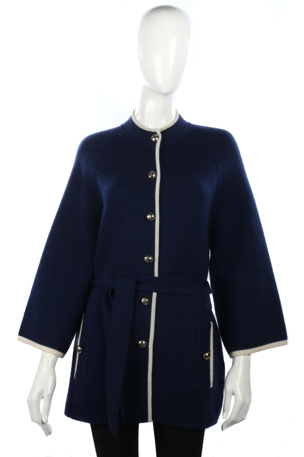 Kai Ming knitted navy jacket size 16