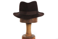 Dark brown trilby hat
