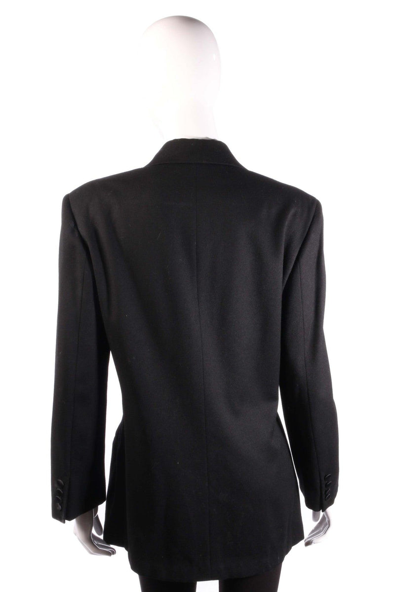 Ralph Lauren Classic Double Breasted Evening Jacket Black Size 8