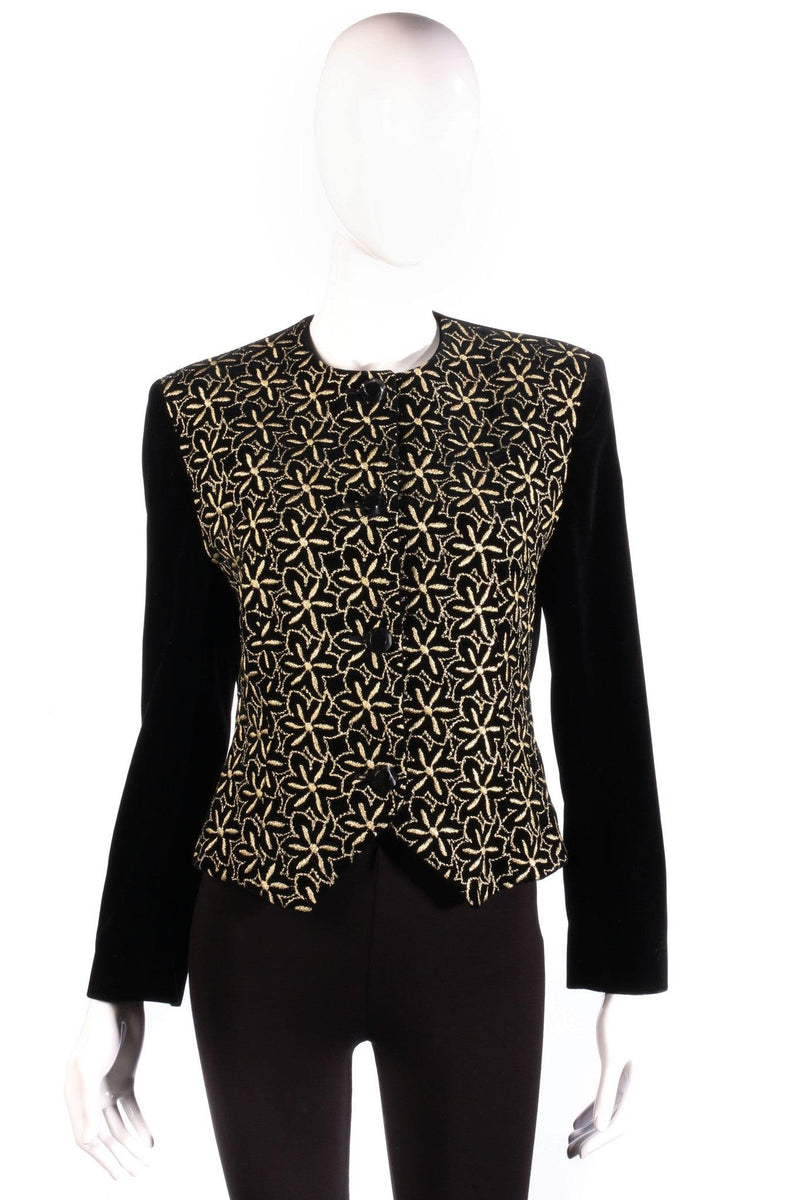 Jaeger black and gold floral jacket