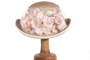 Condo Model hat with flowers