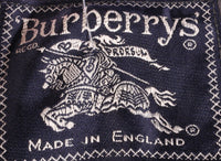Burberry tweed wool waistcoat size M blue and grey label