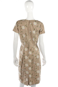 Vintage 1960's/1960's embroidered dress size S