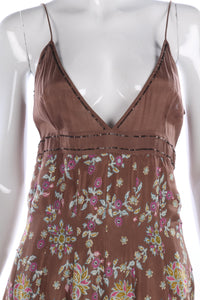 Day Birger Et Mikkelsen brown floral summer dress size S