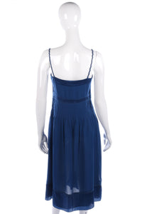 Blue Karen Millen silk cocktail dress size 10