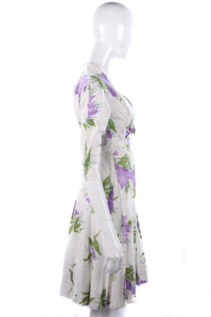 Lovely 1950's cream cotton summer dress with matching jacket