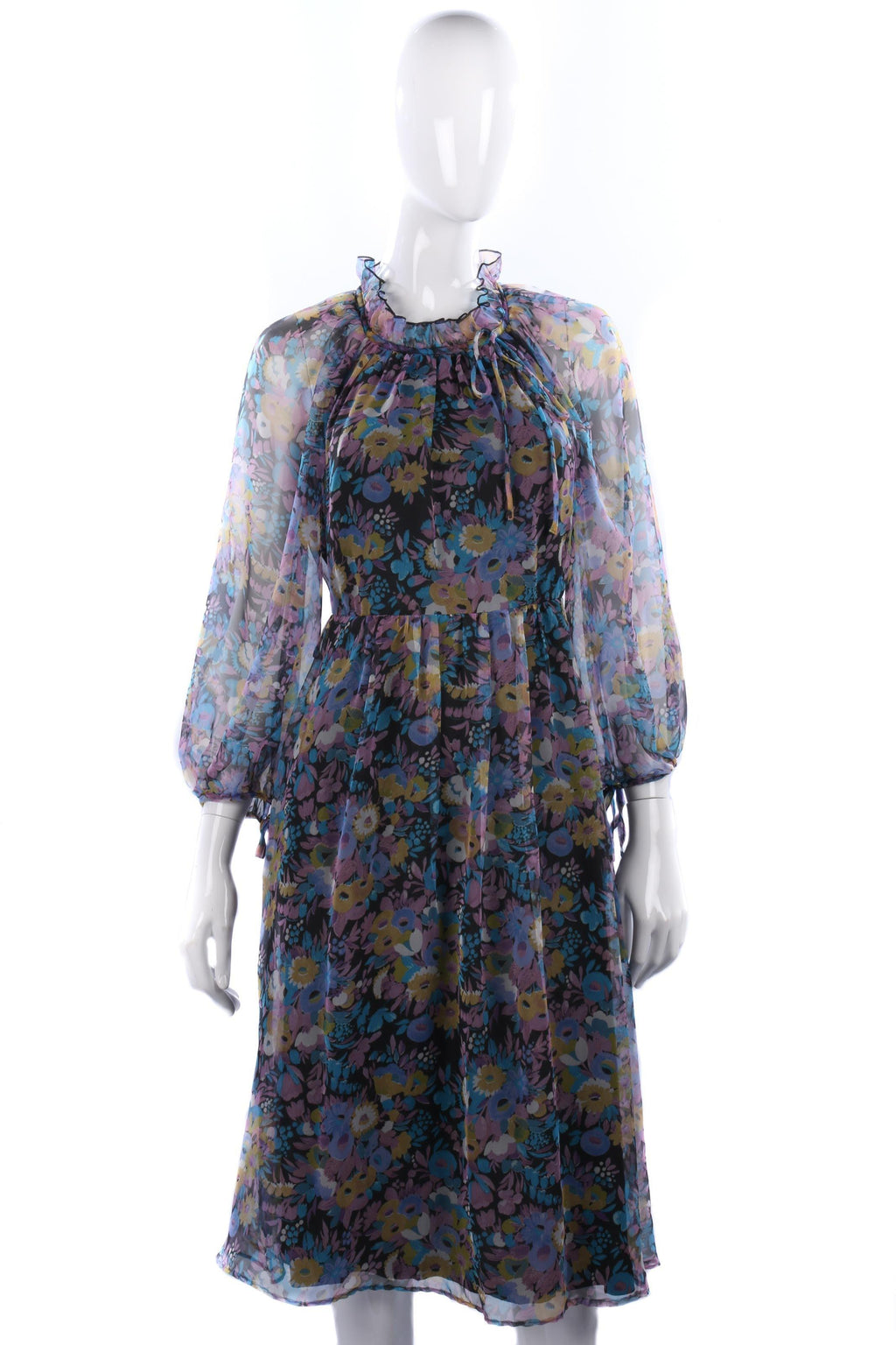 Beautiful Vera Mont vintage floral dress size 8