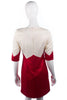 BCBGMAXAZRIA designer cream and red cocktail dress size 6