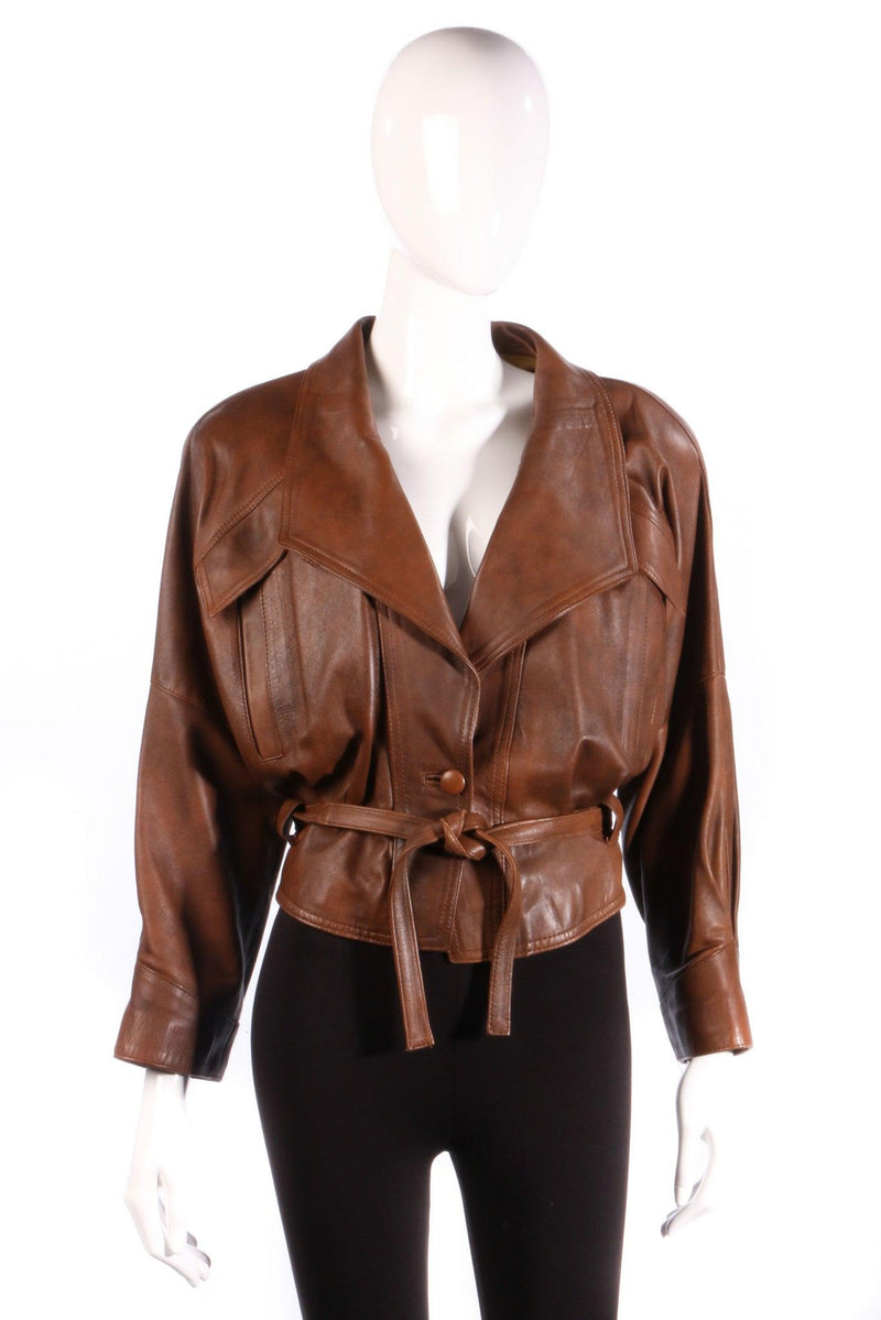 Antica Pelleria brown leather jacket