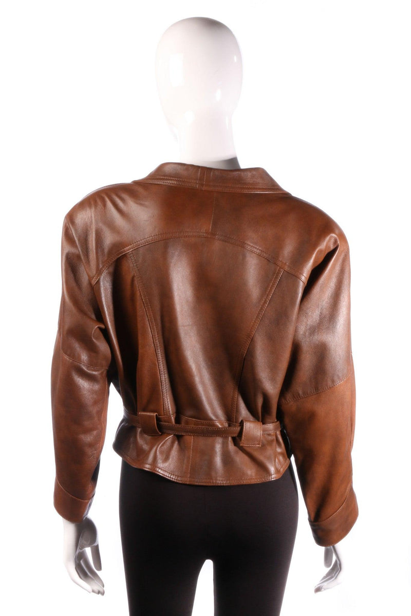 Antica Pelleria brown leather jacket back