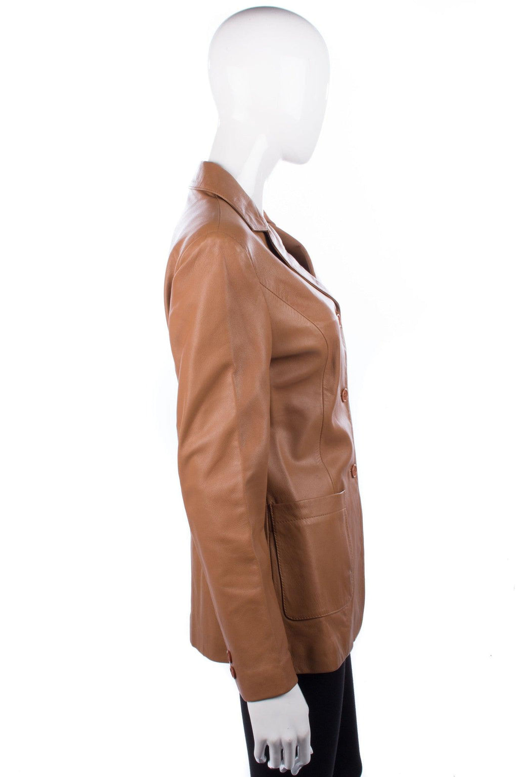 ARMA Soft Leather Jacket Caramel Size 10