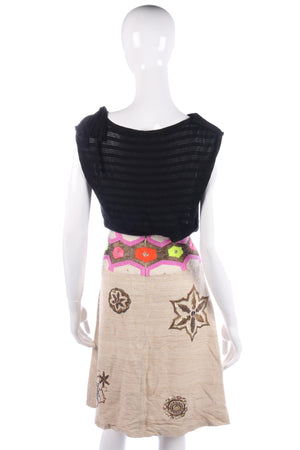 Matthew Williamson 100% Silk Beaded Skirt UK Size 10