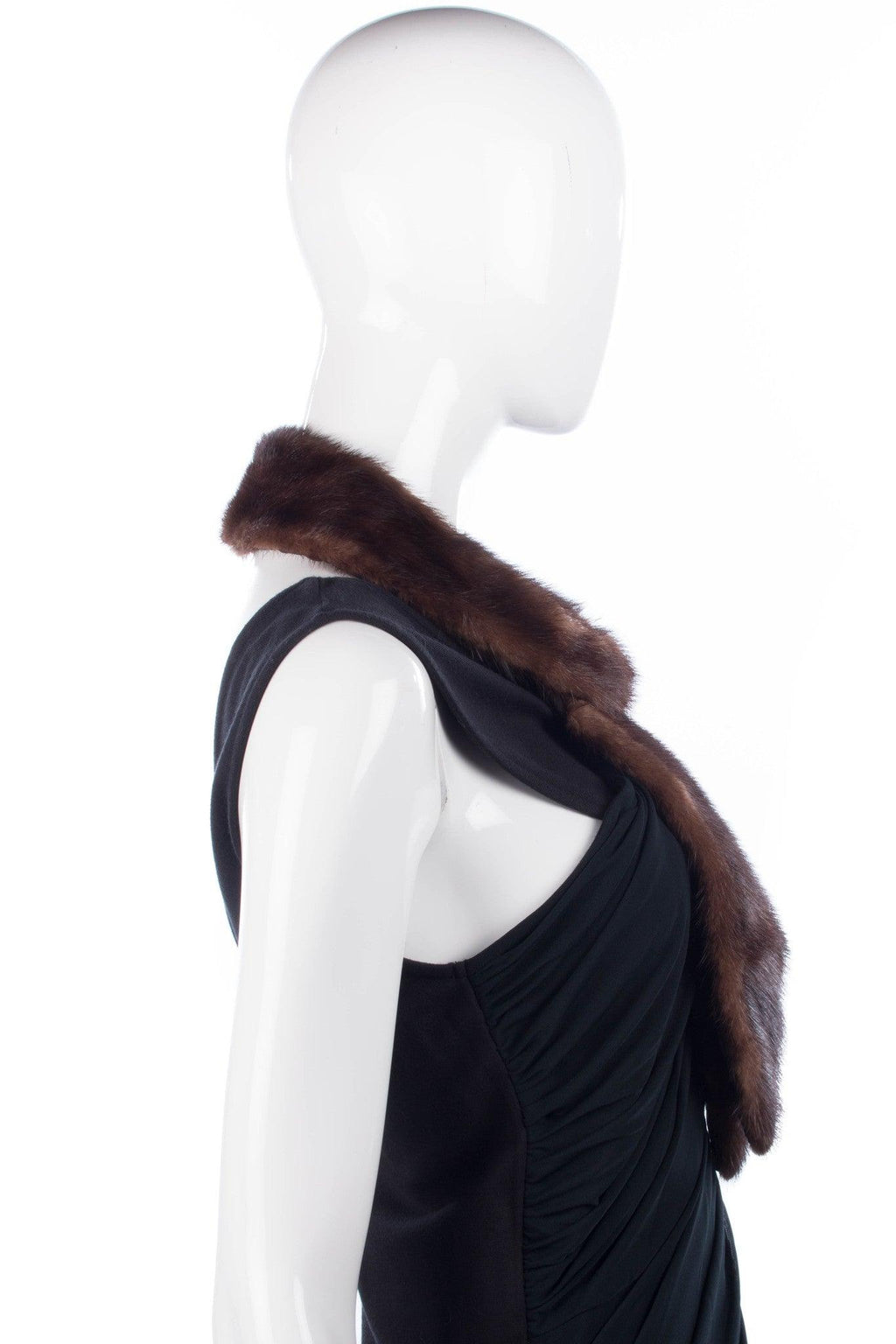 Shaped vintage mink collar