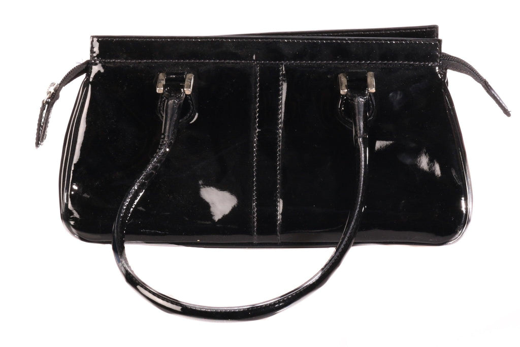 Artigiano patent leather handbag