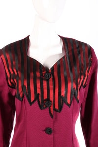 Anna Marie pink jacket with red and black stripes detail