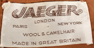 Jaeger brown wool and camelhair jacket label