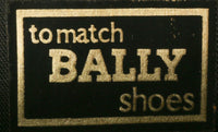 Bally brown croc leather handbag label