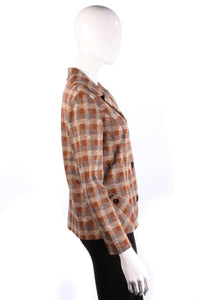 Dumarsel Vintage Jacket Rust and Brown Check UK Size 14
