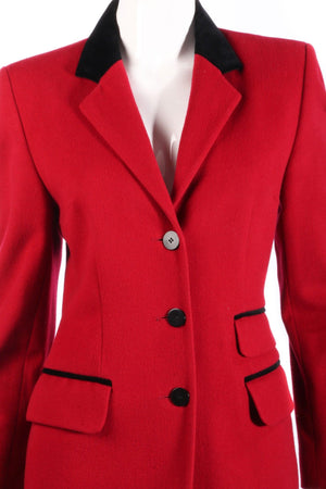Paul Costelloe Dressage red jacket detail