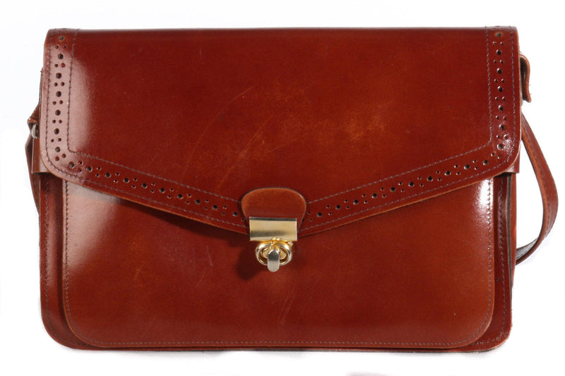 Satchel style leather bag