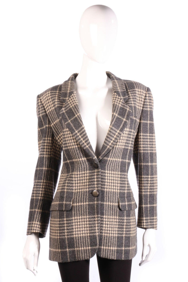Grey Jaeger checked jacket front
