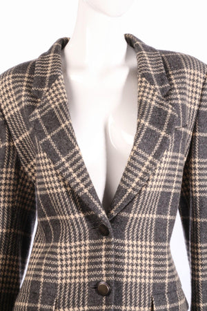 Grey Jaeger checked jacket detail