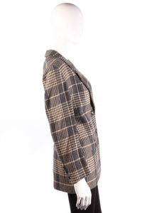 Grey Jaeger checked jacket side