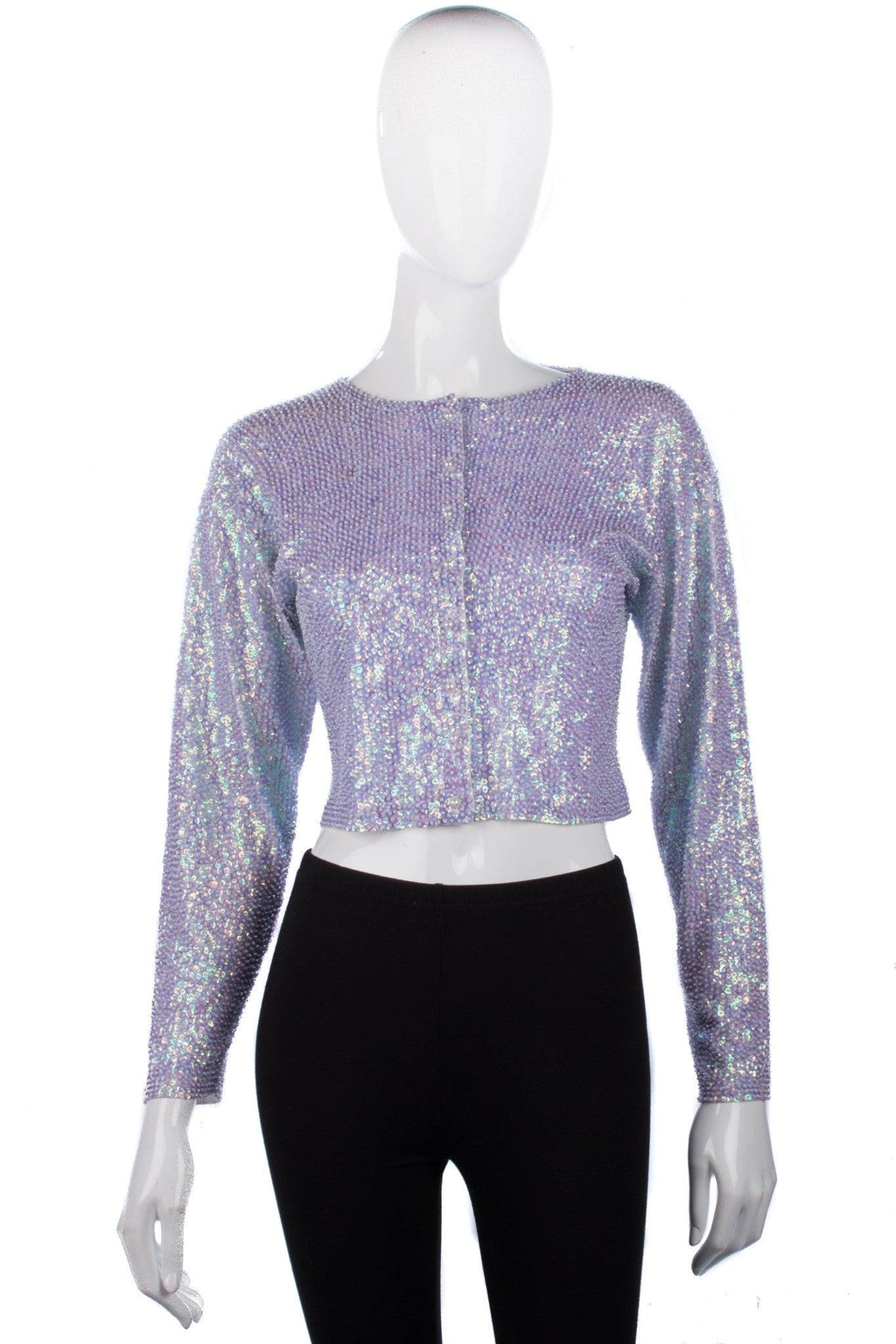 Kookai Sparkly Evening Top/Jacket Lilac Sequinned Size S