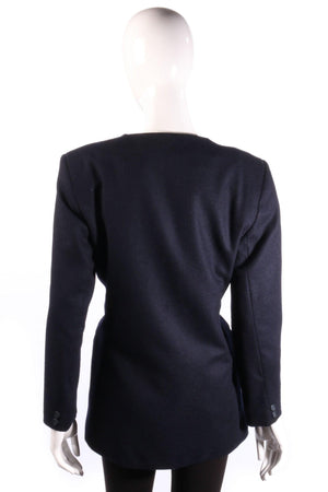 Cotswold Woolen Weavers Jacket Wool and Cashmere Dark Blue Size 10