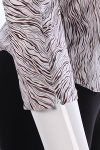 Paul Smith Black Label Blouse Brown Stripes Size 42 (UK10)