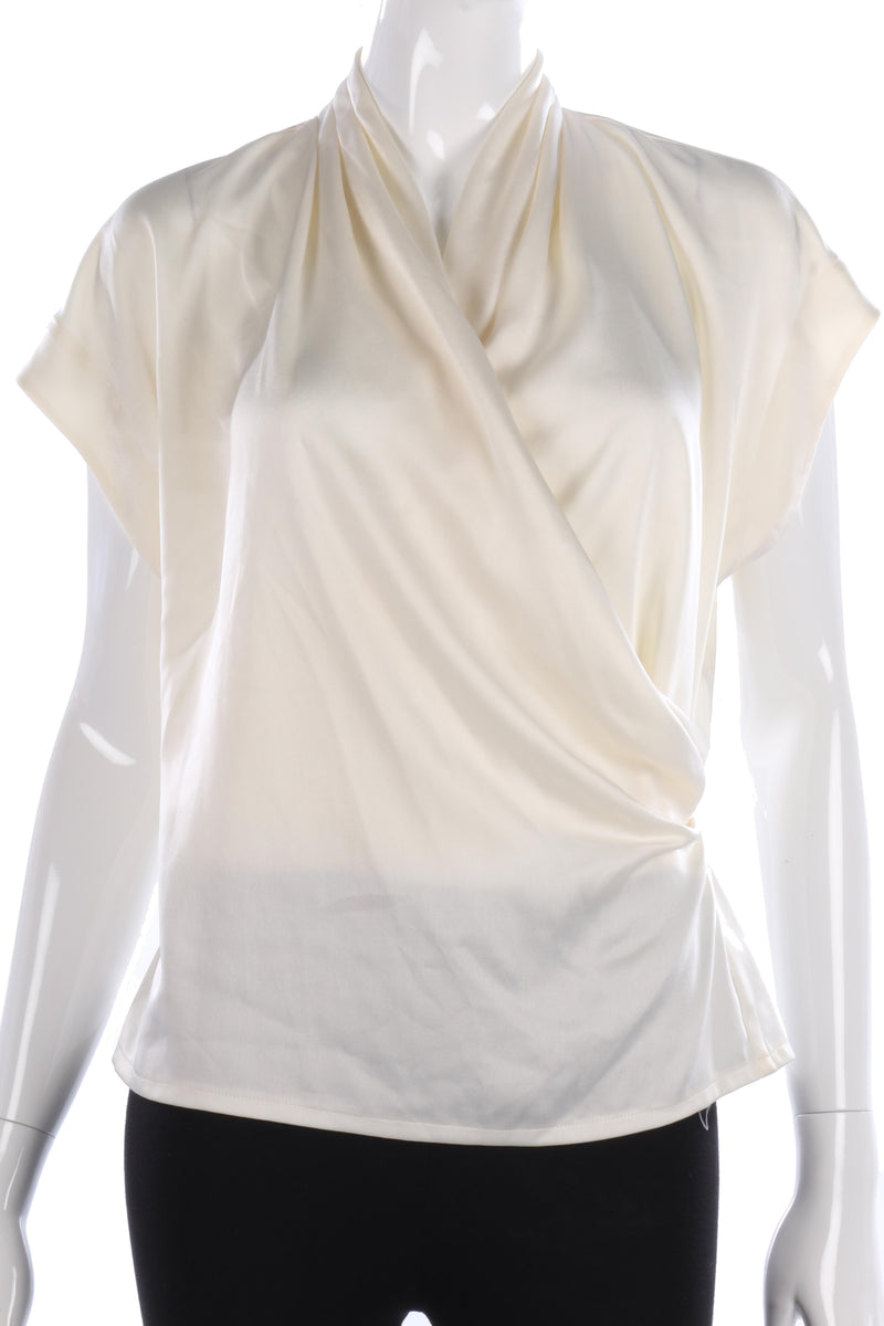 Windsmoor Cream Wrap Front Blouse Size 12