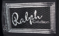 Ralph Creation Vintage Velvet Jacket Black with Embroidery Detail UK12/14