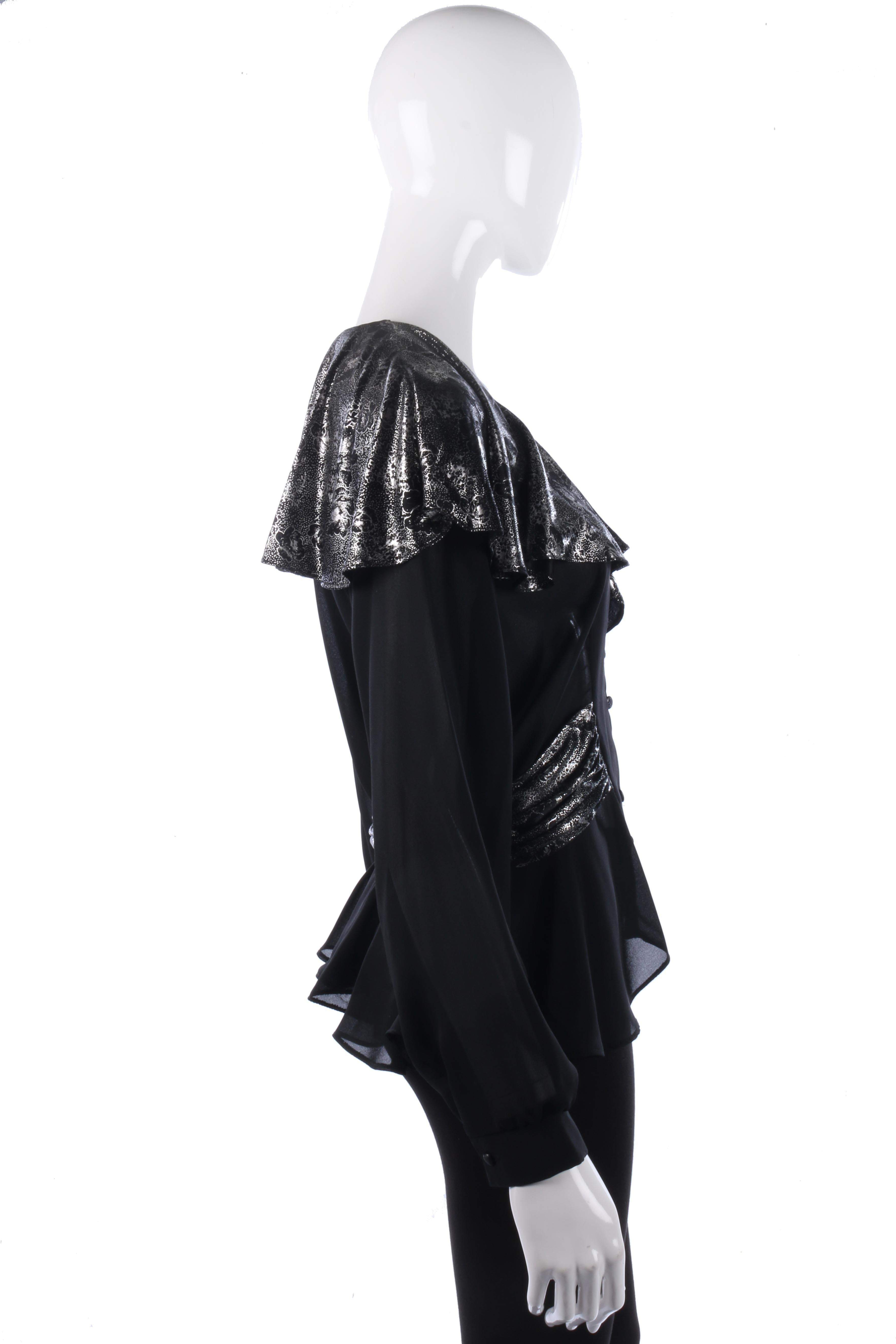 Black And White Evening Blouse Anlis