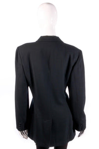 Black formal blazer back