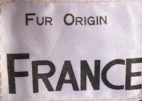 Fur Origin France brown coat label