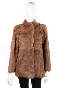 Fur Origin France brown coat