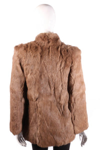 Fur Origin France brown coat back