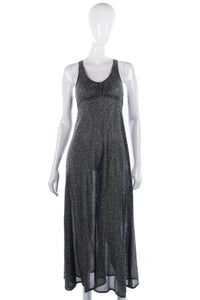 Lurex silver sparkly dress size 10